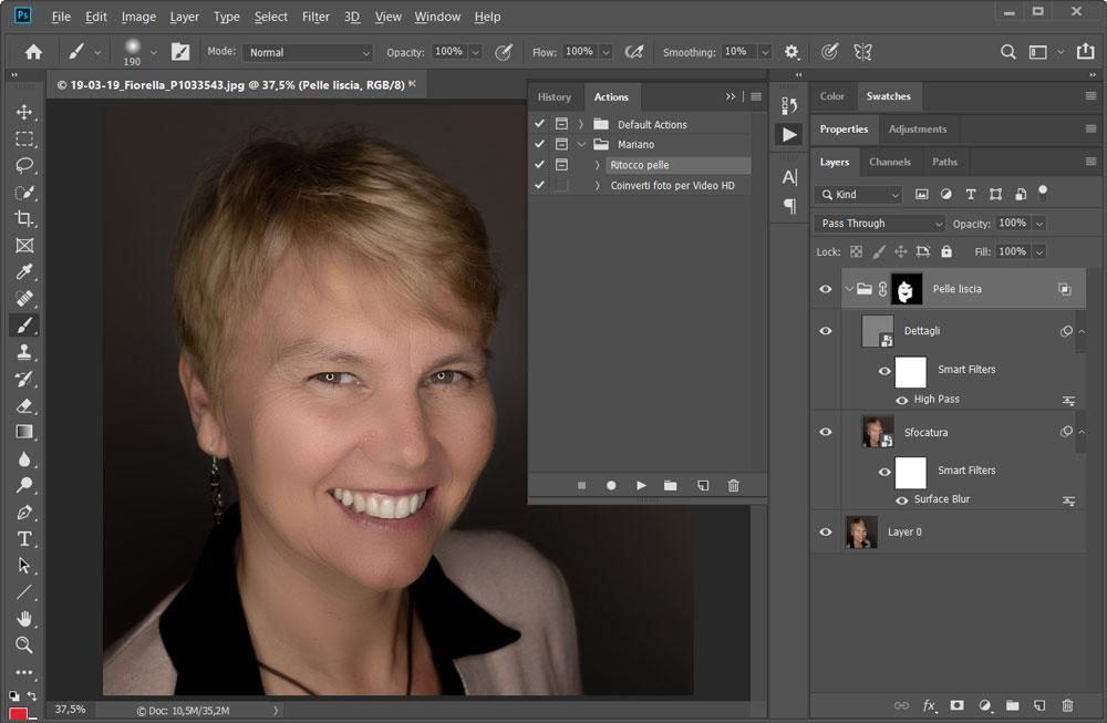 Azione per Ritoccare la Pelle in Photoshop