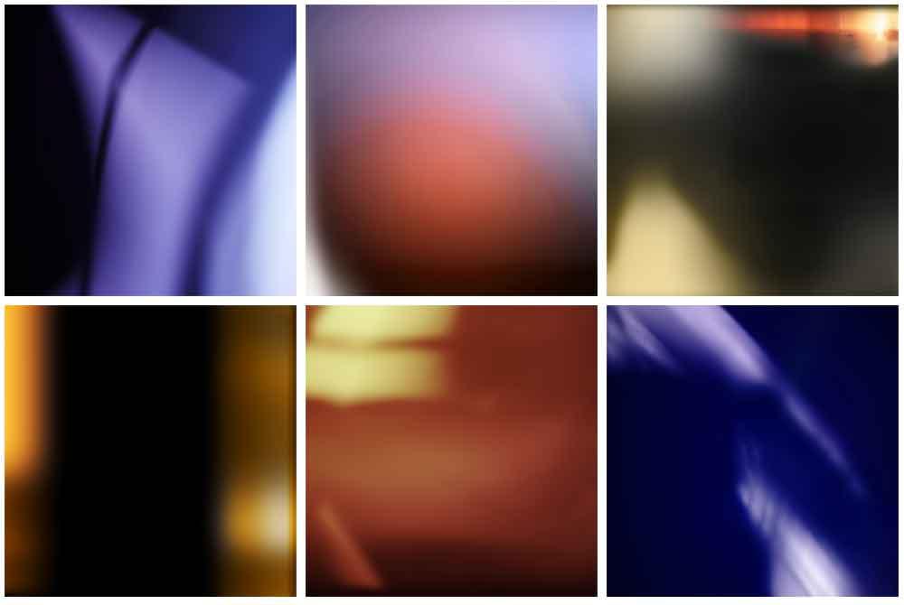 Le sei texture comprese nella collezione Infiltrazioni di Luce